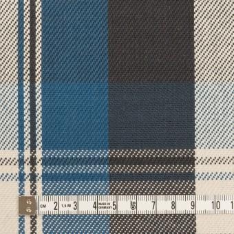 コットン×チェック(アッシュブルー&チャコール)×斜子織 サムネイル4