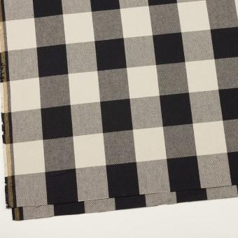 コットン×チェック(アイボリー&ブラック)×厚ビエラ サムネイル2