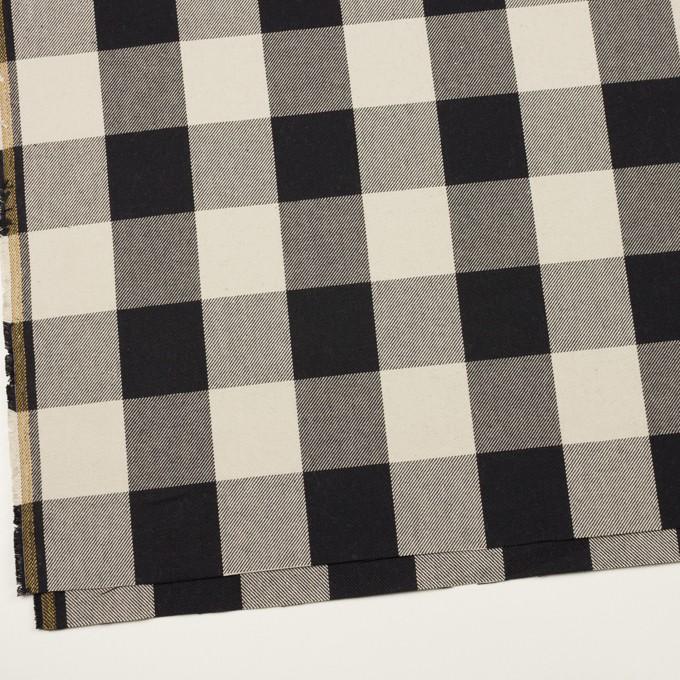 コットン×チェック(アイボリー&ブラック)×厚ビエラ イメージ2