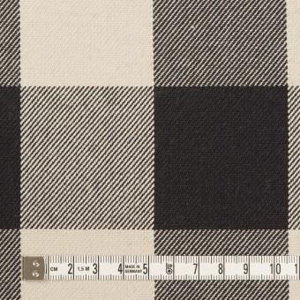 コットン×チェック(アイボリー&ブラック)×厚ビエラ サムネイル4