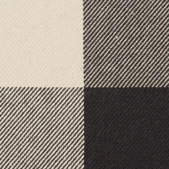 コットン×チェック(アイボリー&ブラック)×厚ビエラ サムネイル1