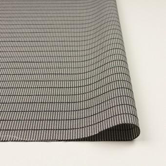 ウール&ポリウレタン×チェック&ボーダー(ホワイト&ブラック)×千鳥格子ストレッチ_全2色_イタリア製 サムネイル3