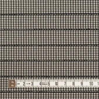 ウール&ポリウレタン×チェック&ボーダー(ホワイト&ブラック)×千鳥格子ストレッチ_全2色_イタリア製 サムネイル4