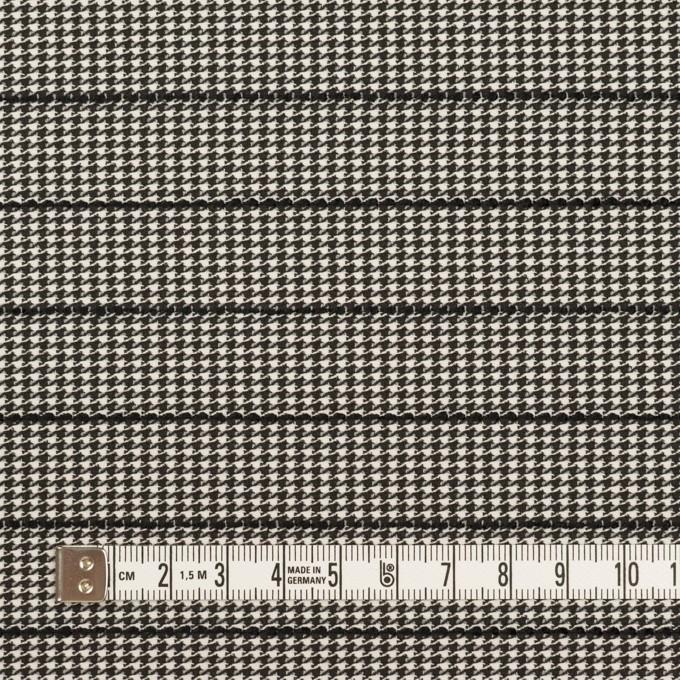 ウール&ポリウレタン×チェック&ボーダー(ホワイト&ブラック)×千鳥格子ストレッチ_全2色_イタリア製 イメージ4