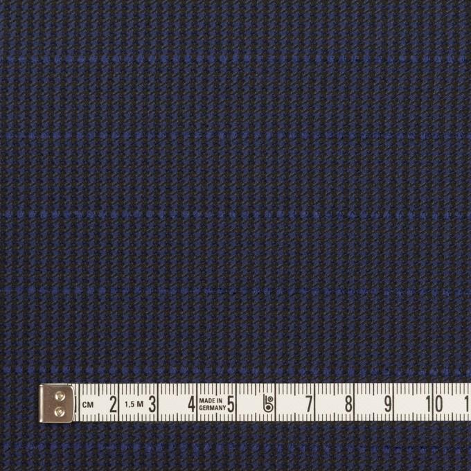 ウール&ポリウレタン×チェック&ボーダー(グレープ&ブラック)×千鳥格子ストレッチ_全2色_イタリア製 イメージ4