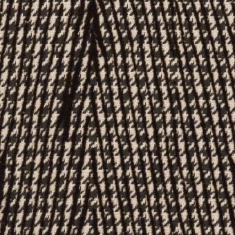 ポリエステル×チェック(ダークブラウン)×千鳥格子_フロッキー_イタリア製