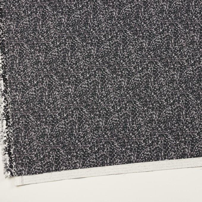コットン&ポリウレタン×ミックス(グレープグレー)×ピケストレッチ_イタリア製 イメージ2