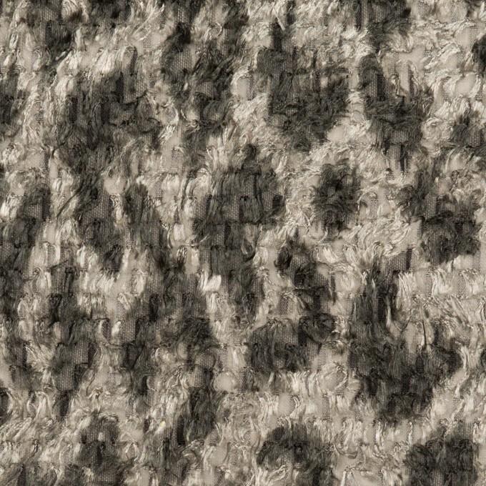 ポリエステル×レオパード(グレー)×ジャガード・カットジャガード_全2色 イメージ1