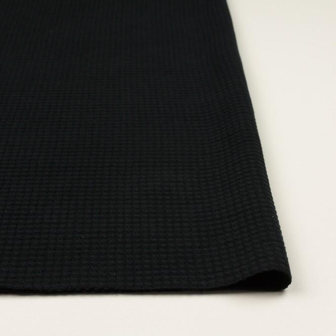 コットン×無地(ブラック)×Wニット_全3色 イメージ3