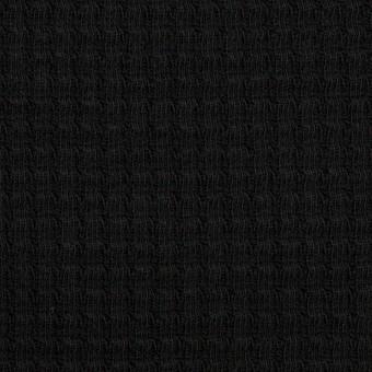 コットン×無地(ブラック)×Wニット_全3色