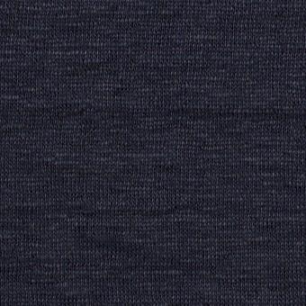 リネン&コットン×無地(ネイビー)×W天竺ニット サムネイル1