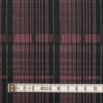 コットン&キュプラ混×チェック(ローズ&ブラック)×ジャガード・ストレッチ サムネイル4