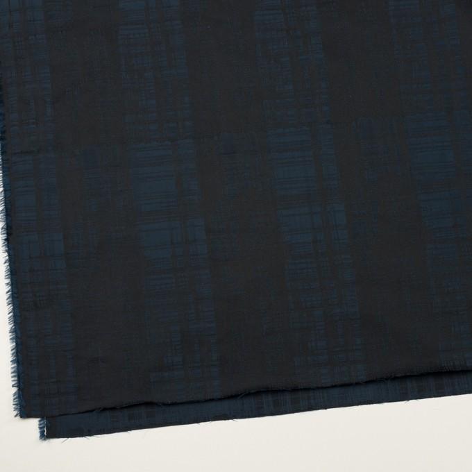 ポリエステル×チェック(ネイビー&ブラック)×形状記憶タフタジャガード イメージ2
