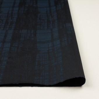 ポリエステル×チェック(ネイビー&ブラック)×形状記憶タフタジャガード サムネイル3