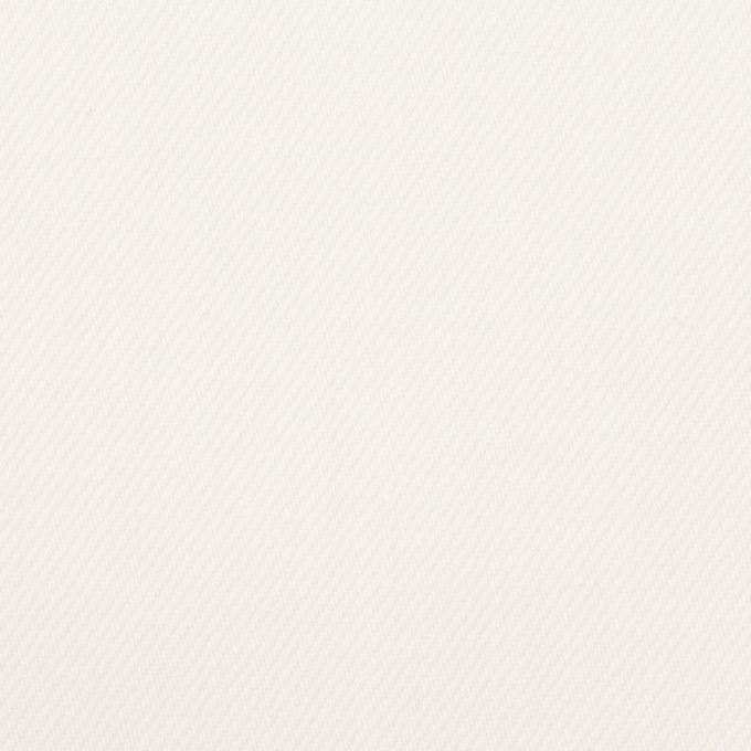 コットン×無地(オフホワイト)×セルビッチ・カツラギ イメージ1