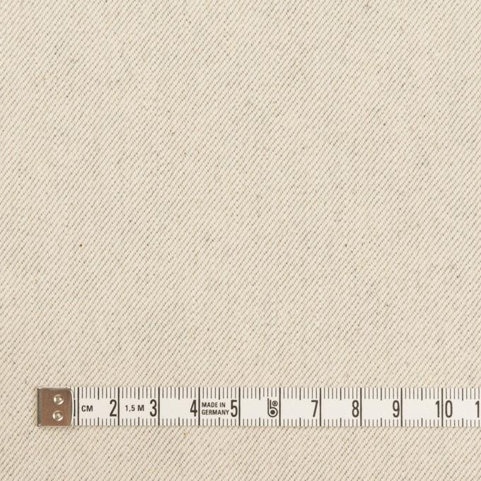 コットン×無地(ベージュグレー)×セルビッチ・カツラギ イメージ4