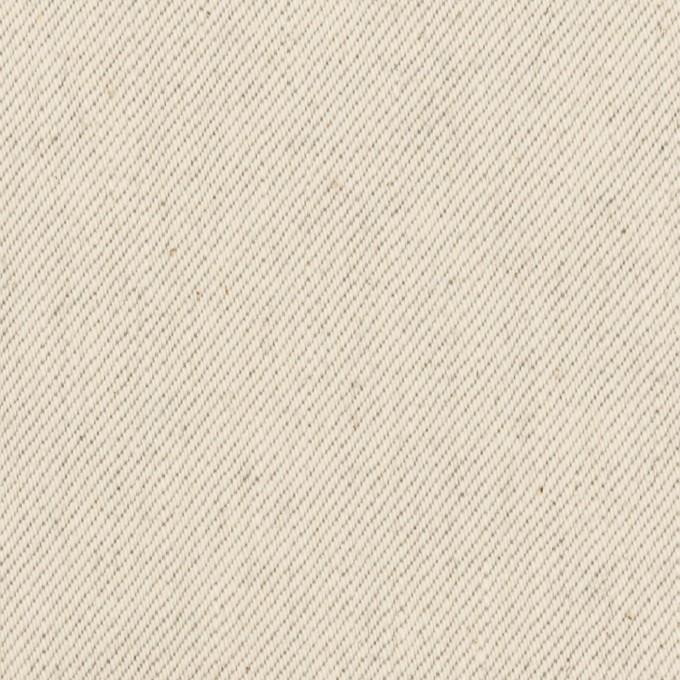 コットン×無地(ベージュグレー)×セルビッチ・カツラギ イメージ1