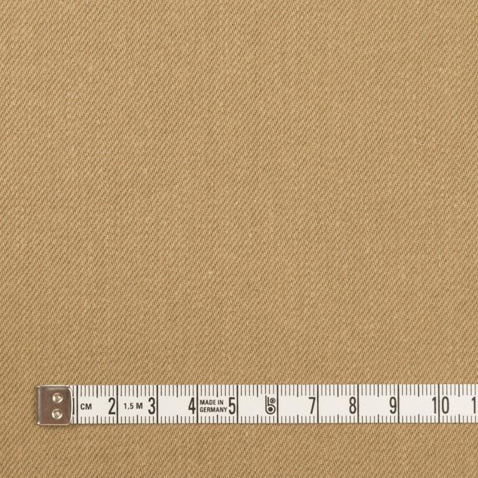 コットン×無地(オークル)×セルビッチ・カツラギ イメージ4