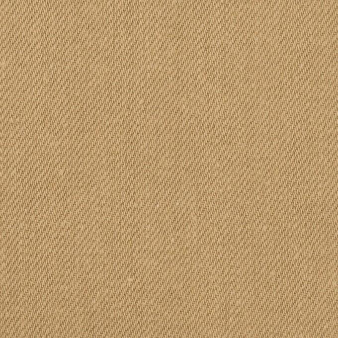 コットン×無地(オークル)×セルビッチ・カツラギ イメージ1