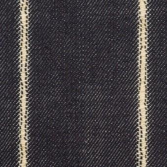 コットン×ストライプ(インディゴ)×セルビッチ・デニム(13.5oz) サムネイル1