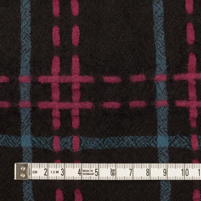 ウール×チェック(ブラック、チェリー&ブルーグレー)×ガーゼ イメージ4
