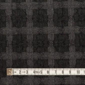 ウール&ポリエステル×チェック(グレー&チャコール)×ガーゼ サムネイル4