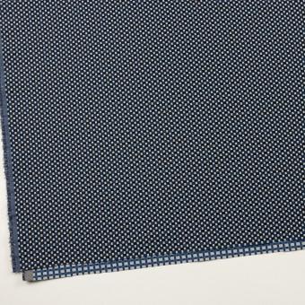 ポリエステル&ポリウレタン×小紋(マリンブルー&ブラック)×ジャガード・ストレッチ サムネイル2