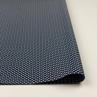 ポリエステル&ポリウレタン×小紋(マリンブルー&ブラック)×ジャガード・ストレッチ サムネイル3