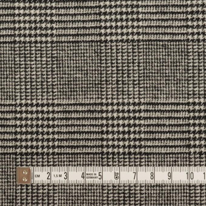 ウール&ポリエステル混×チェック(アイボリー&ブラック)×ツイードストレッチ イメージ4