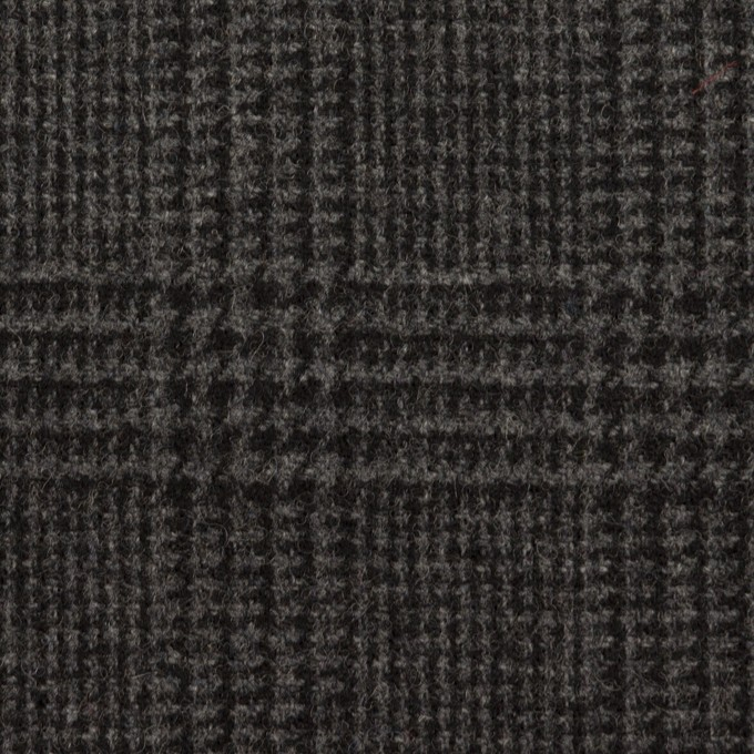ウール×チェック(チャコール)×ツイード イメージ1