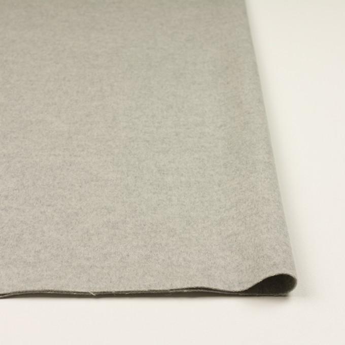 ウール&カシミア×無地(ライトグレー)×ビーバー イメージ3