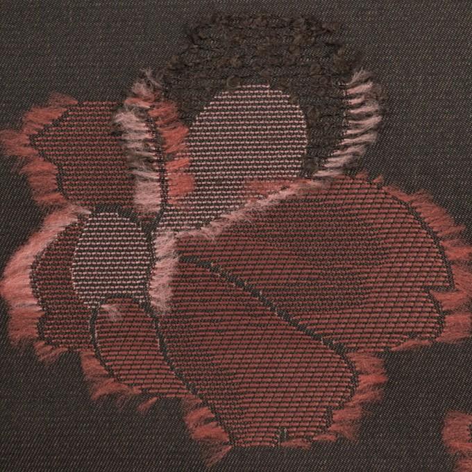 ポリエステル×フラワー(チャコールグレー)×形状記憶タフタジャガード_全3色 イメージ1