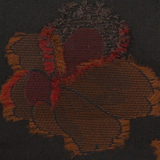 ポリエステル×フラワー(ブラック)×形状記憶タフタジャガード_全3色 イメージ1