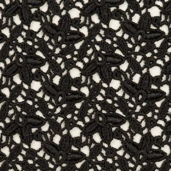 レーヨン×フラワー(ブラック)×ケミカルレース_全2色