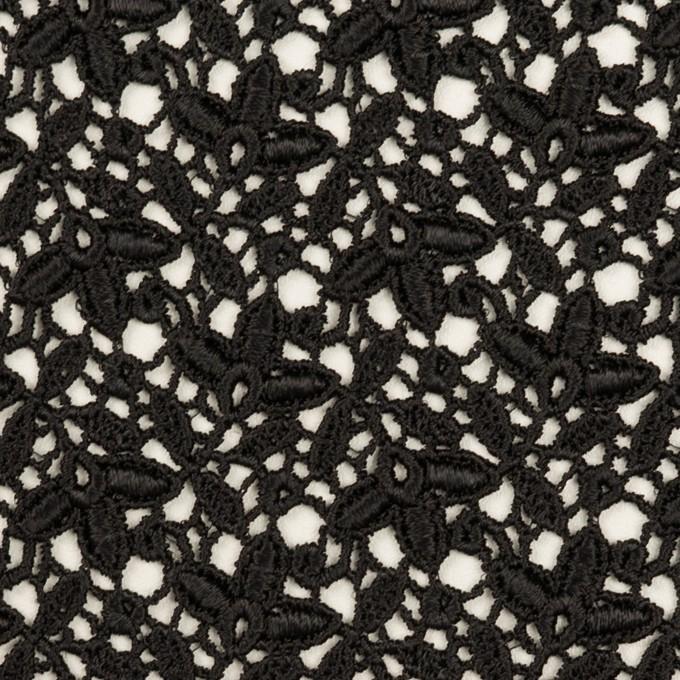 レーヨン×フラワー(ブラック)×ケミカルレース_全2色 イメージ1