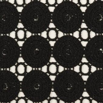 コットン×サークル(ブラック)×ケミカルレース