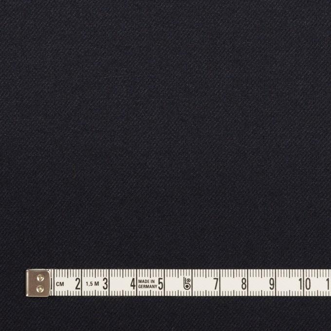 ウール×無地(ネイビー)×サージ イメージ4