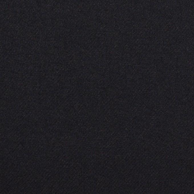 ウール×無地(ダークネイビー)×サージ イメージ1