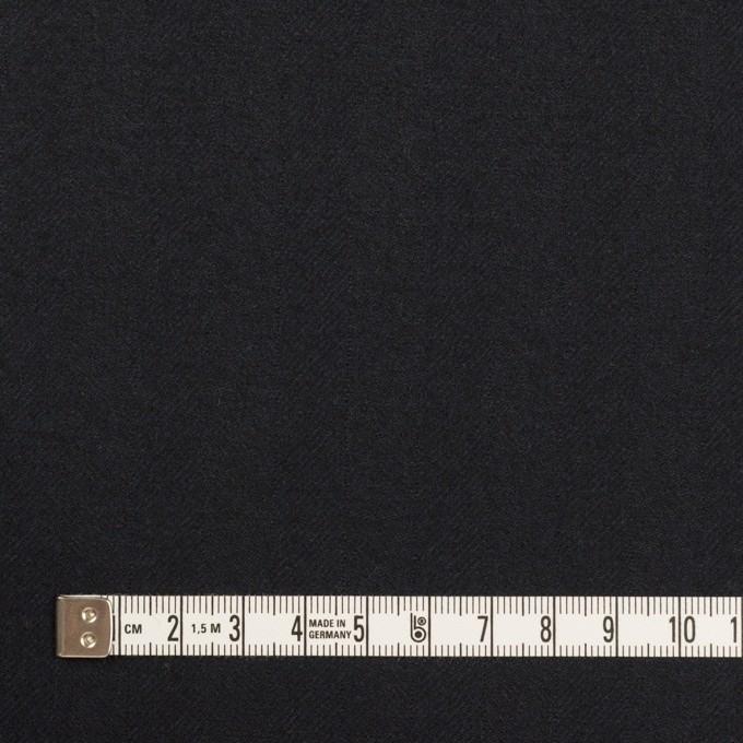 ウール×無地(ダークネイビー)×ヘリンボーン イメージ4