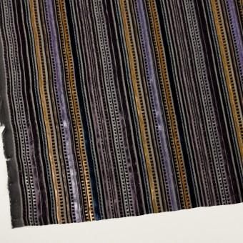 レーヨン&ポリエステル×ストライプ(バイオレット&ネイビー)×オパールベルベット_全2色_フランス製 サムネイル2