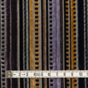 レーヨン&ポリエステル×ストライプ(バイオレット&ネイビー)×オパールベルベット_全2色_フランス製 サムネイル4
