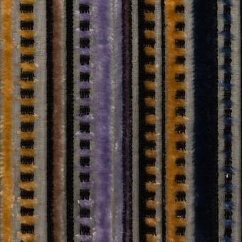 レーヨン&ポリエステル×ストライプ(バイオレット&ネイビー)×オパールベルベット_全2色_フランス製