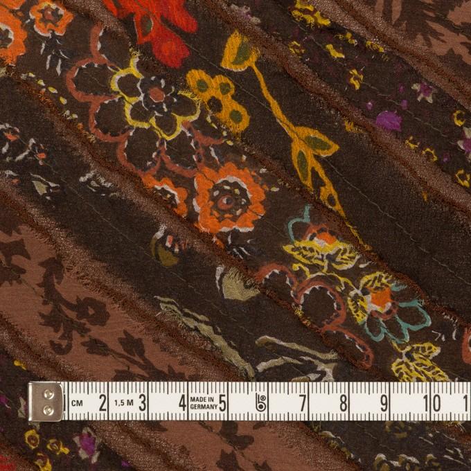 レーヨン×バイヤス(ブラウン)×ジョーゼット_フランス製 イメージ4