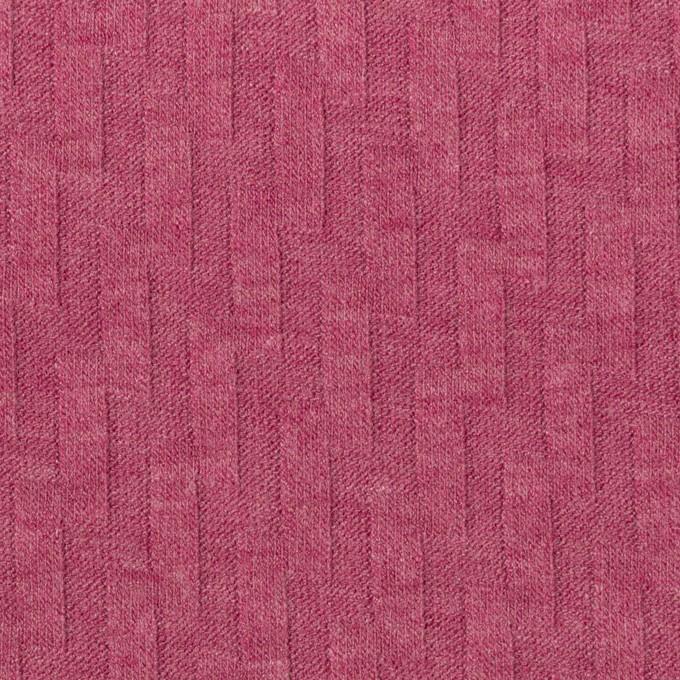 アクリル&レーヨン×無地(チェリーピンク)×ジャガードニット イメージ1