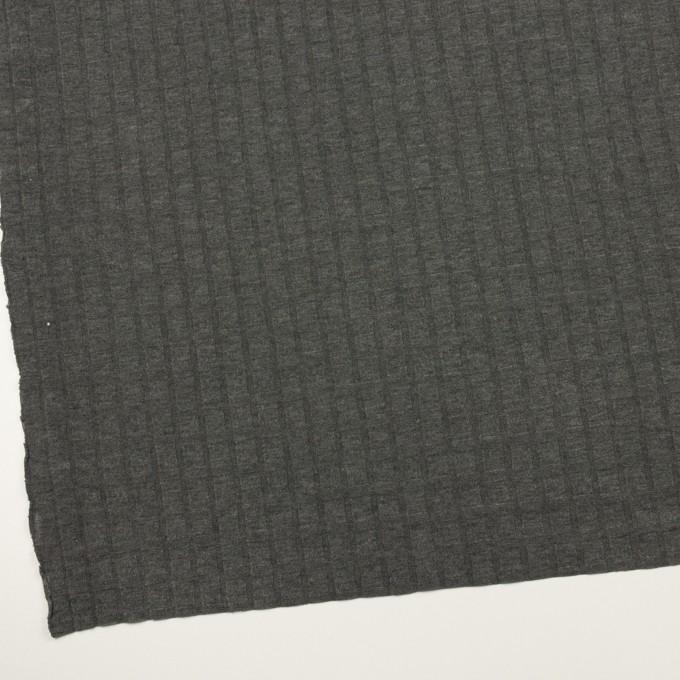 アクリル&レーヨン×無地(チャコールグレー)×ジャガードニット イメージ2