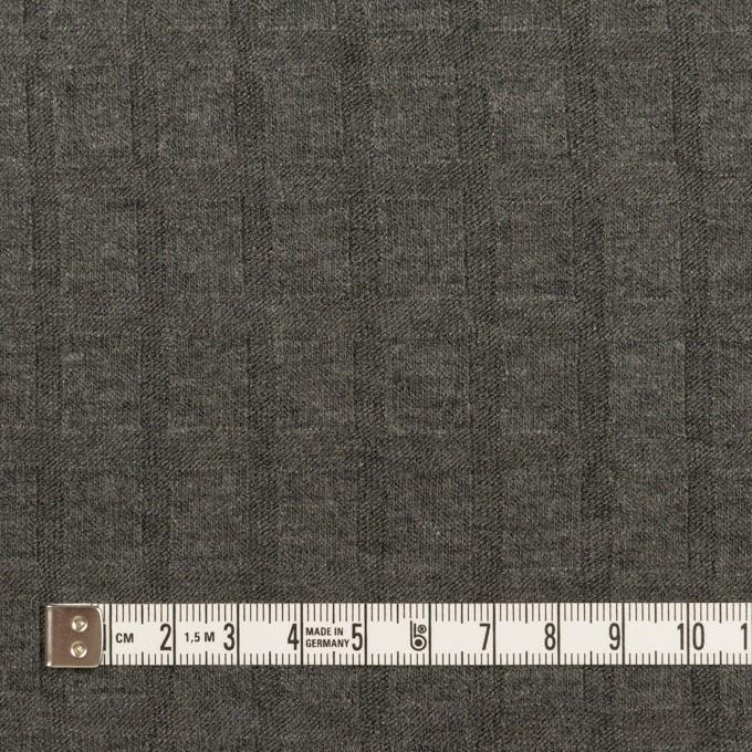 アクリル&レーヨン×無地(チャコールグレー)×ジャガードニット イメージ4