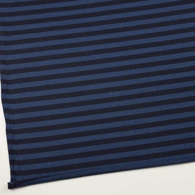 ウール×ボーダー(マリンブルー&ブラック)×天竺ニット_全2色 イメージ2