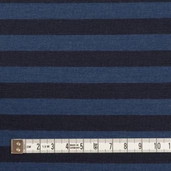 ウール×ボーダー(マリンブルー&ブラック)×天竺ニット_全2色 サムネイル4