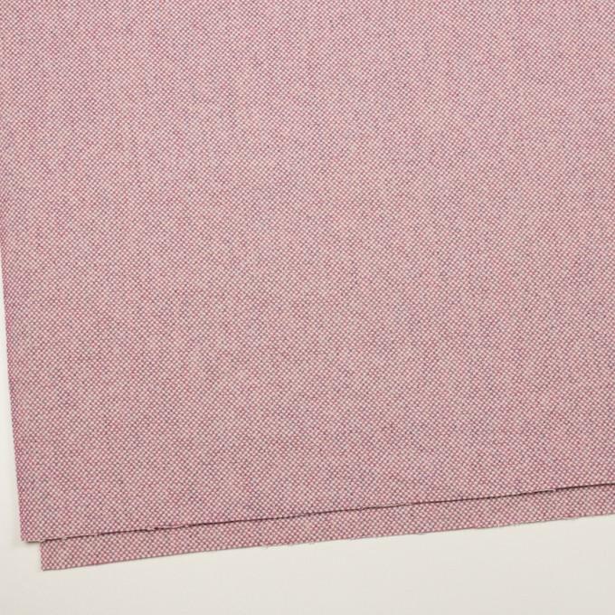 ウール&アンゴラ×ミックス(ピンク)×斜子織_全4色 イメージ2
