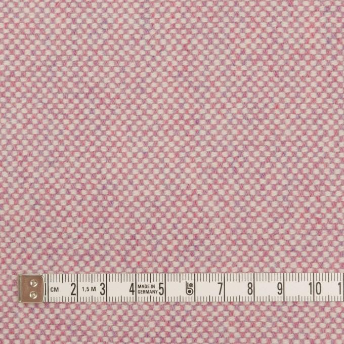 ウール&アンゴラ×ミックス(ピンク)×斜子織_全4色 イメージ4